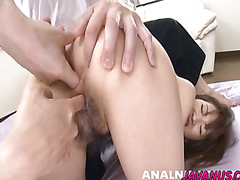Steamy threesome with the horny Kanon getting double penetrated