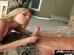 Tiffany Rayne is getting face blasting cum stored in dick