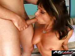 Sweet brunette MILF is ready for some more hardcore action