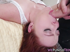 Teen gets fucked rough