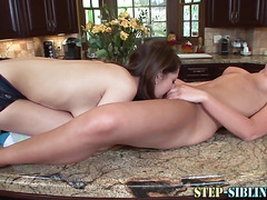 Stepsister gets licked