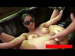 Jasmine Caro blindfolded and disgraced