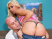 Big Booty Blonde Banged In Her Snatch