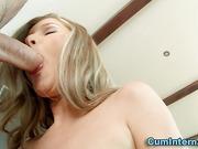 Dick sucking babe rides cock