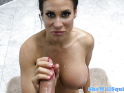 Squirting Sheila Marie riding big dildo