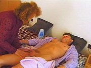 Older Tart Jumps Into Bed With Young Man