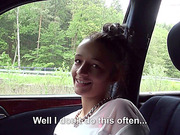 Hot Euro girl Vanessa hopped in the car and gets her pussy fucked from behind