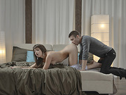 Sex Goddess Taissias pink pussy gets fucked by monster cock