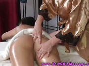 Masseuse clients receives anal fingering
