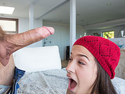 Cute Horny teen Annika gets a big cock surprise from her boyfriend