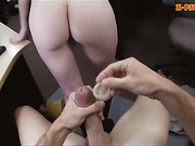 Pretty amateur pawns her pussy for money