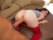 Bushy Heather Night banged by huge dick