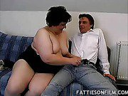 Fat Wife Sizes Up a Cock