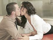 Hot babe secretary Alexa Tomas gets tight pussy fuck at the office