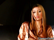 Glamour babe gets facial