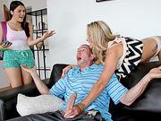 Valentina Nappi catches stepmom and bf