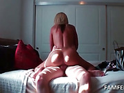 Oily blonde fucked in her ass and pink muff