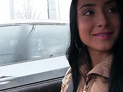 Euro babe and brunette Anna gets spotted by a stranger and fucked