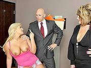 Badass huge boobs student Julie Cash fucked and jizzed