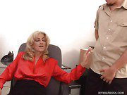 MILF Boss Unbuckles Pants Of 20 Year Old Employee