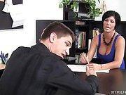 Busty MILF Boss Fucked Over Her Own Desk