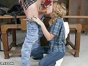 Sexy cowgirl Nataly Von is the best gunslinger of the...