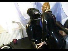 Three girls in latex getting fucked