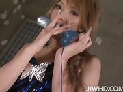 Japanese av model Sena Aragaki is hired to be a spokesmodel for a new rubber dildo and finds herself enjoying her product oh so much!