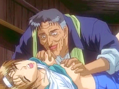 Bondage hentai schoolgirl gets squeezed her tits and hardsex