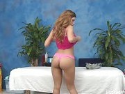 18 year old Alexa gets fucked hard from behind by her massage therapist