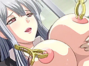 Busty anime gets her nipples pierced and fucked in the public train