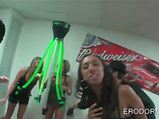 Teens in college drink and play sex games at party