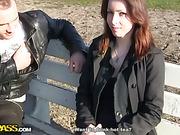 Sexy girl having fun with 2 cocks