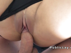 Beautiful big tittied Latina bangs pov