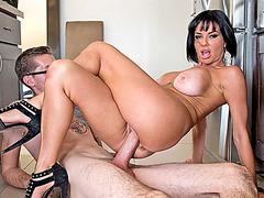 Superb MILF Veronica Avluv fucked by her stepsons huge dick