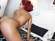 Naughty Latin gets her Face fucked and gets a Facial