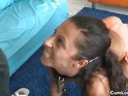 Slutty teen enjoys a big pole in her tight pussy