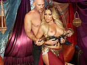 Hot superstar babe Kissa Sins takes in a bigcock