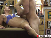 Blonde Amateur With Glasses Gets Fucked!