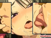Japanese hentai gets squeezed her bigboobs and licked her wetpussy