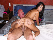 Trinity StClair rides step dads big cock after her pussy rubbed