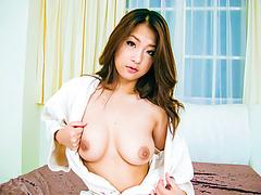 Subtitles - Beautiful POV sex with japanese MILF Satomi