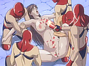Chained chesty hentai whipped and her pussy burned with candle wax