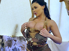 Huge boobs stunner Aletta Ocean gets fucked inside the tent