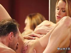 Huge tittied Milf banged in bathroom