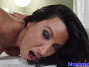 Busty lezdom demands the works from masseuse