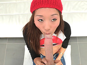 Hot teen Alina Li gets fucked by a monster cock and receives facial