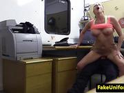 Busty british amateur fucking on duty cop