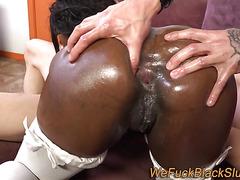 Black babe ass slammed