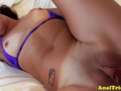 Beach girlfriend assfucked back in hotel room